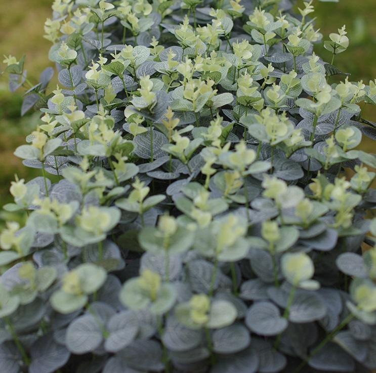 """Plantes artificielles arbustes 20 """"feuilles d'eucalyptus faux buissons maison jardin bricolage décor vert clair"""