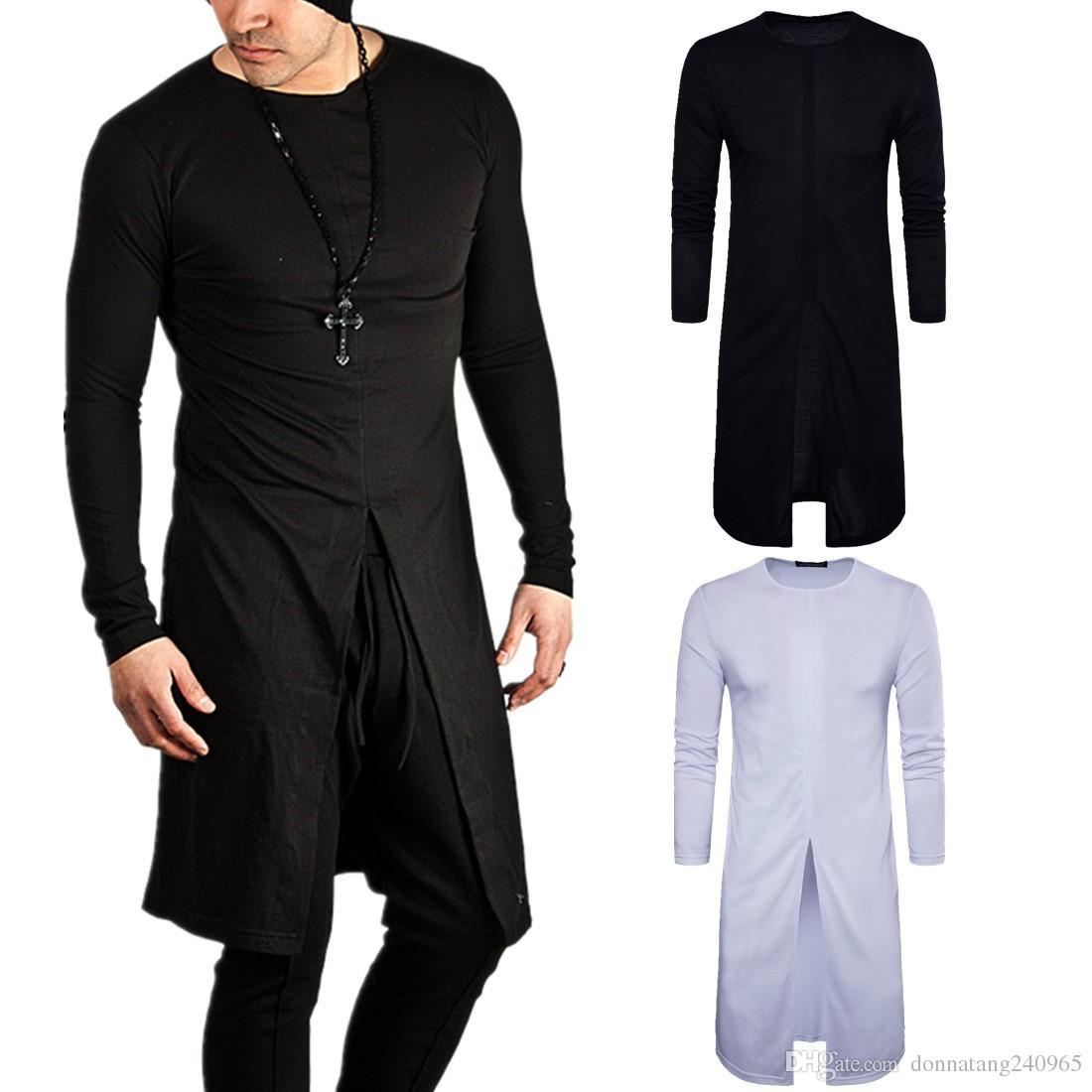 2017 New Fashion Designer Men Autumn Style Men Split T Shirt Slim Style Hip Hop Long Sleeve T Shirts Clothes Long Tshirt Make T Shirts Shirt Designs From Donnatang240965 10 89 Dhgate Com