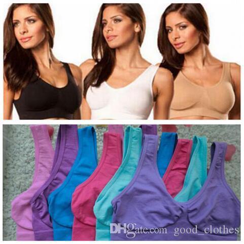 9 colores S-3XL de calidad superior Sexy ropa interior sin costuras Ahh de Ahh de las señoras de Deportes de yoga 300pcs Bras Pullover del cuerpo del sujetador Shaper CCA6586