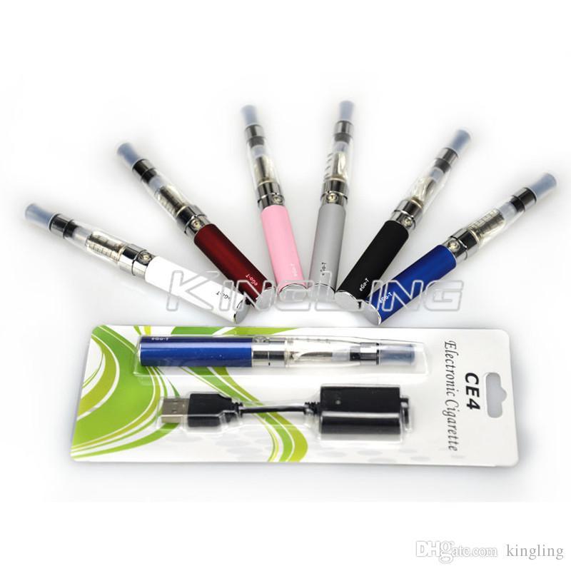 E Cigarettes eGo-t Battery 510 eGo Thread CE4 1.6ml Atomizer Tank USB Cable Charger Vaporizer Pen Kits Starter Vape Pen Free Ship