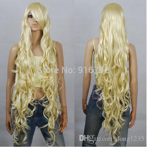 Ürünleri Sentetik Peruk Lolita Anime Peruk Cosplay Saç Peruk 100 cm Uzun Kıvırcık HB88