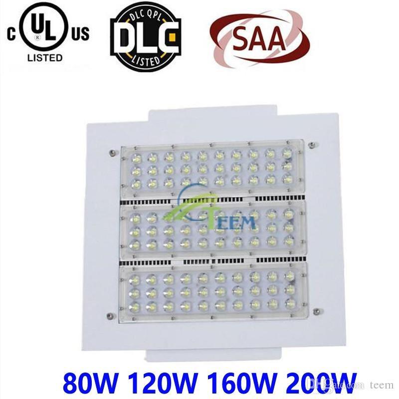 CE UL Led Baldachin Licht 80 Watt 120 Watt 160 Watt 200 Watt 100-277 V Parkplatz Led-leuchten Outdoor Retrofit Beleuchtung für Tankstelle Lampe Flutlicht 1010