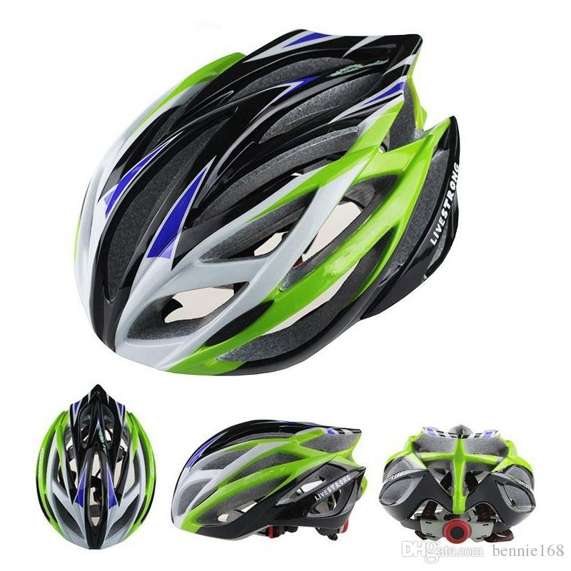2016 Super Light LIVESTRONG Road Bike Cycling Helmet Road MTB Race Whisper 21 Holes Orange/Red/Yellow/Blue/Green/Silver Free Size 220g