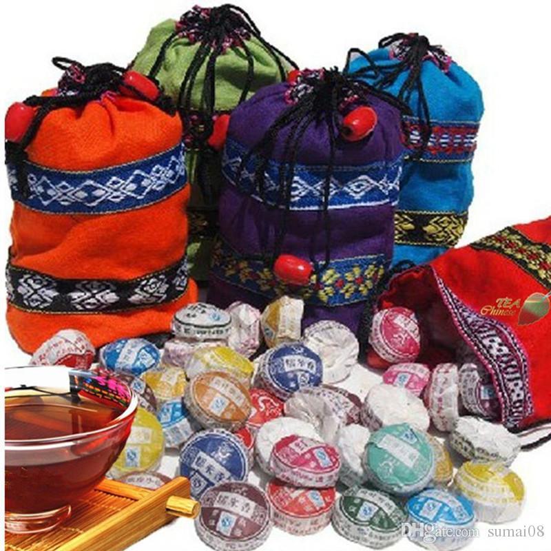Preferencia 210 ~ 250g de Yunnan 10 tipos de té de diferentes sabores de té Pu'er raw Pu Er té orgánico Pu'er árbol viejo natural Puer