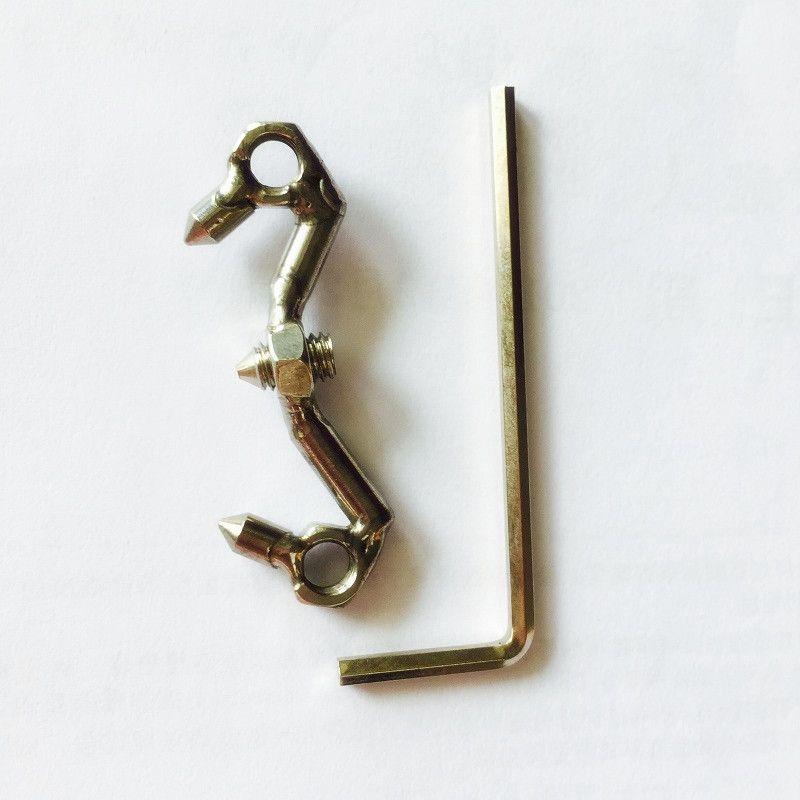 Edelstahlkäfig, Ring für neues Design Keuschheit Spike Anti-Off-Keuschheits-Snap Open Neue Geräte Ring Mund Für Männer KhoFr