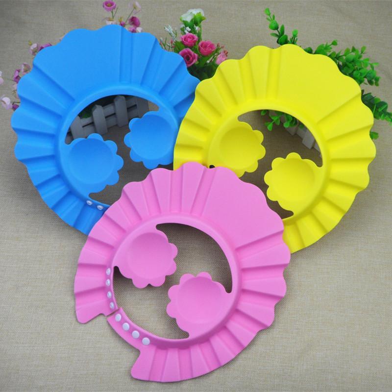 Детские уха шапочка для душа дети шампунь крышка четыре сливы регулируемый Твердый переплет файл