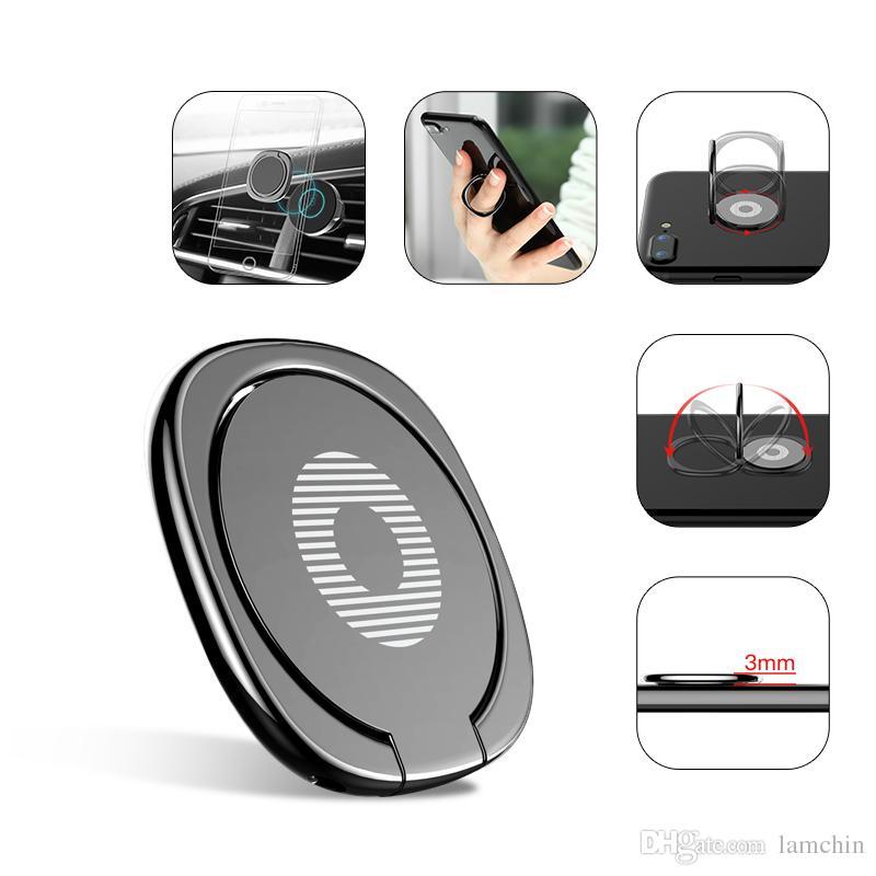Nuovo supporto del supporto del supporto del supporto del dente del telefono del metallo di 360 gradi di lusso per iPhone 7 6 Samsung Tablet con il pacchetto