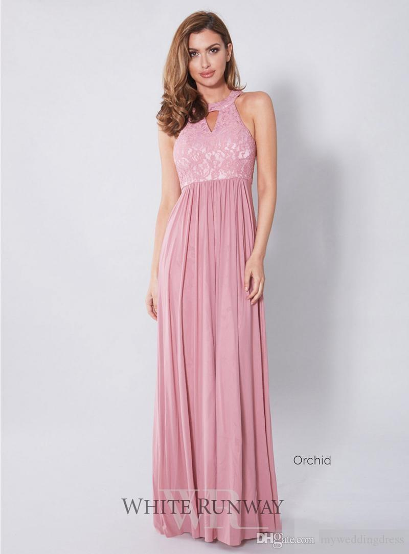 Plus Size Purple Peach Bridesmaid Dresses Lace Top 2017 Country ...
