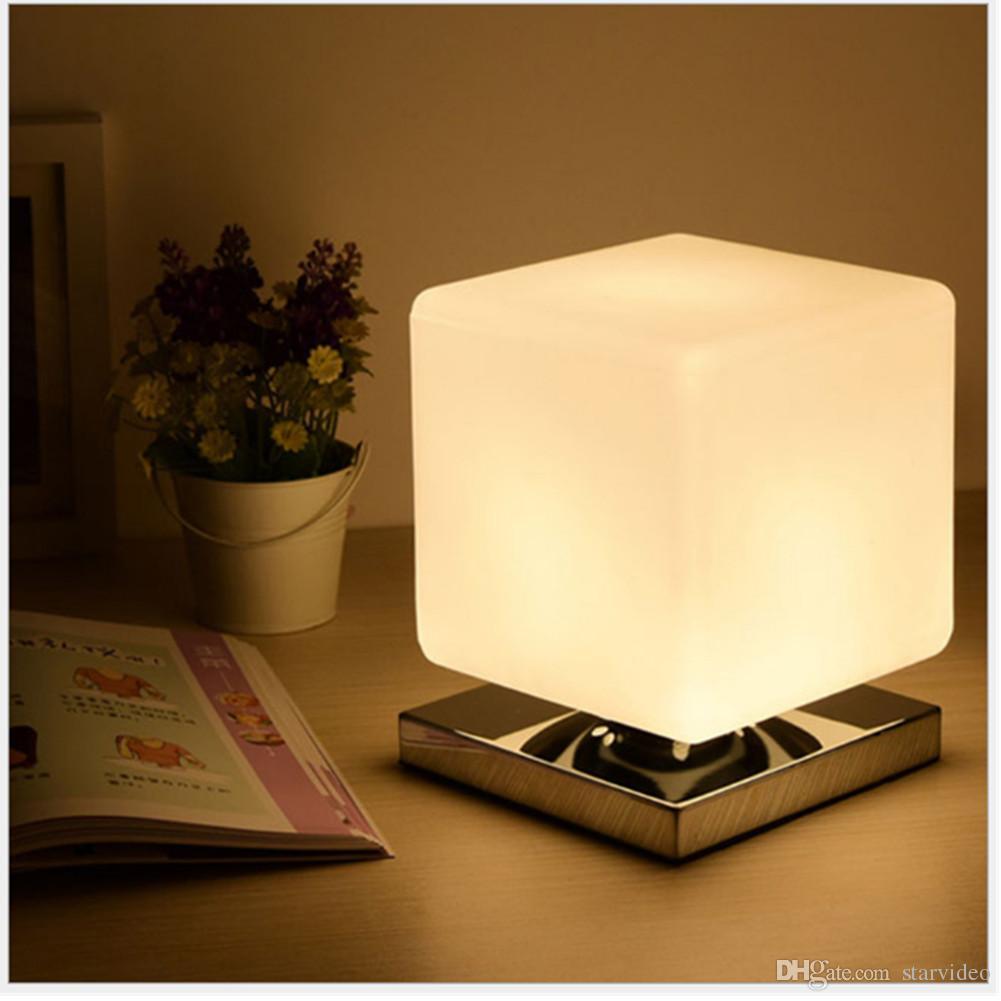 Creative Table Lamp Square Cute Baby Feeling Lamp Wedding Bedroom Warm  Bedside Lamp 1 Bulb 3W ...