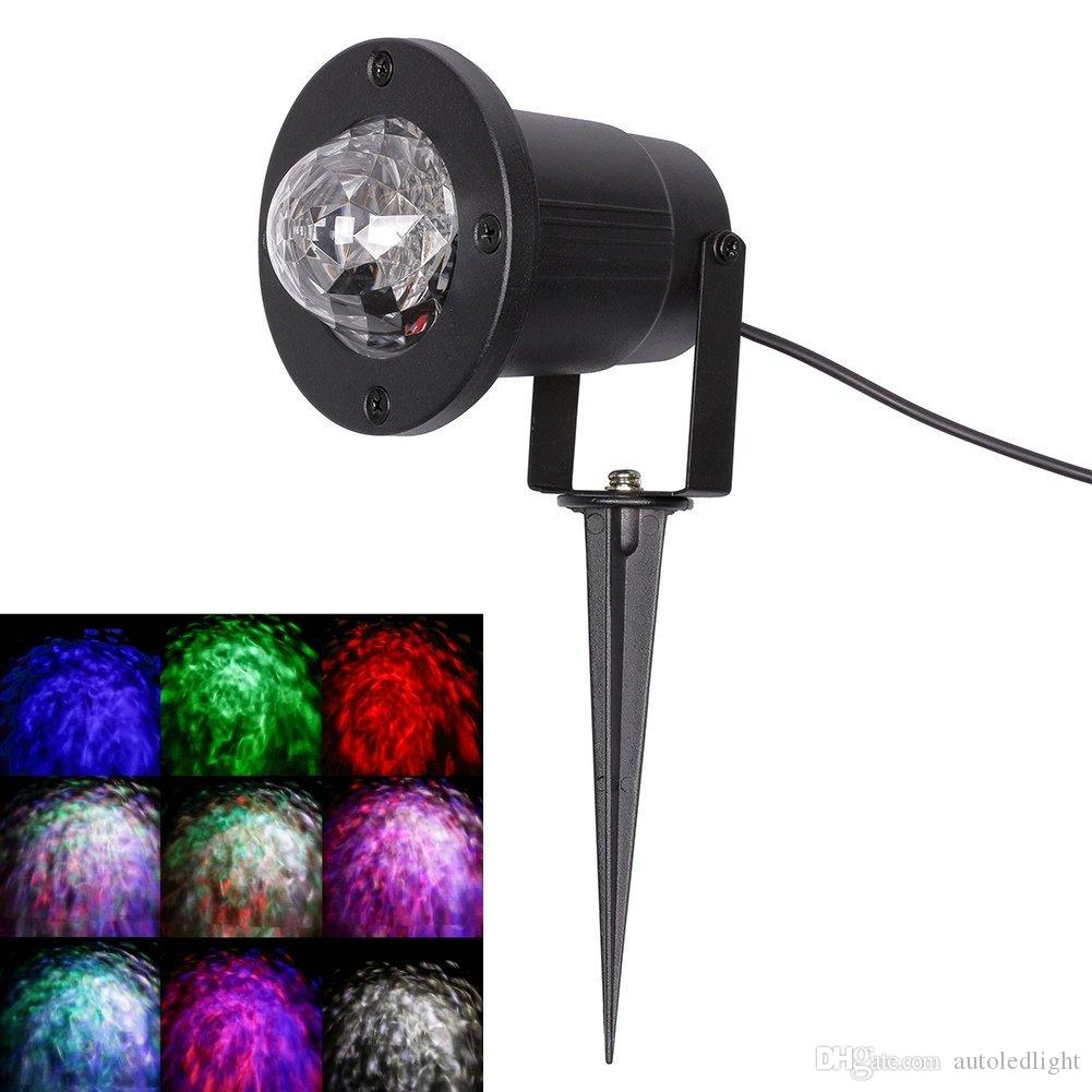 Outdoor Ripple Effect Light Projector with 7 Colors, Remote Control - Light Decoration for Outside or Inside Your House, for Holidays, Party