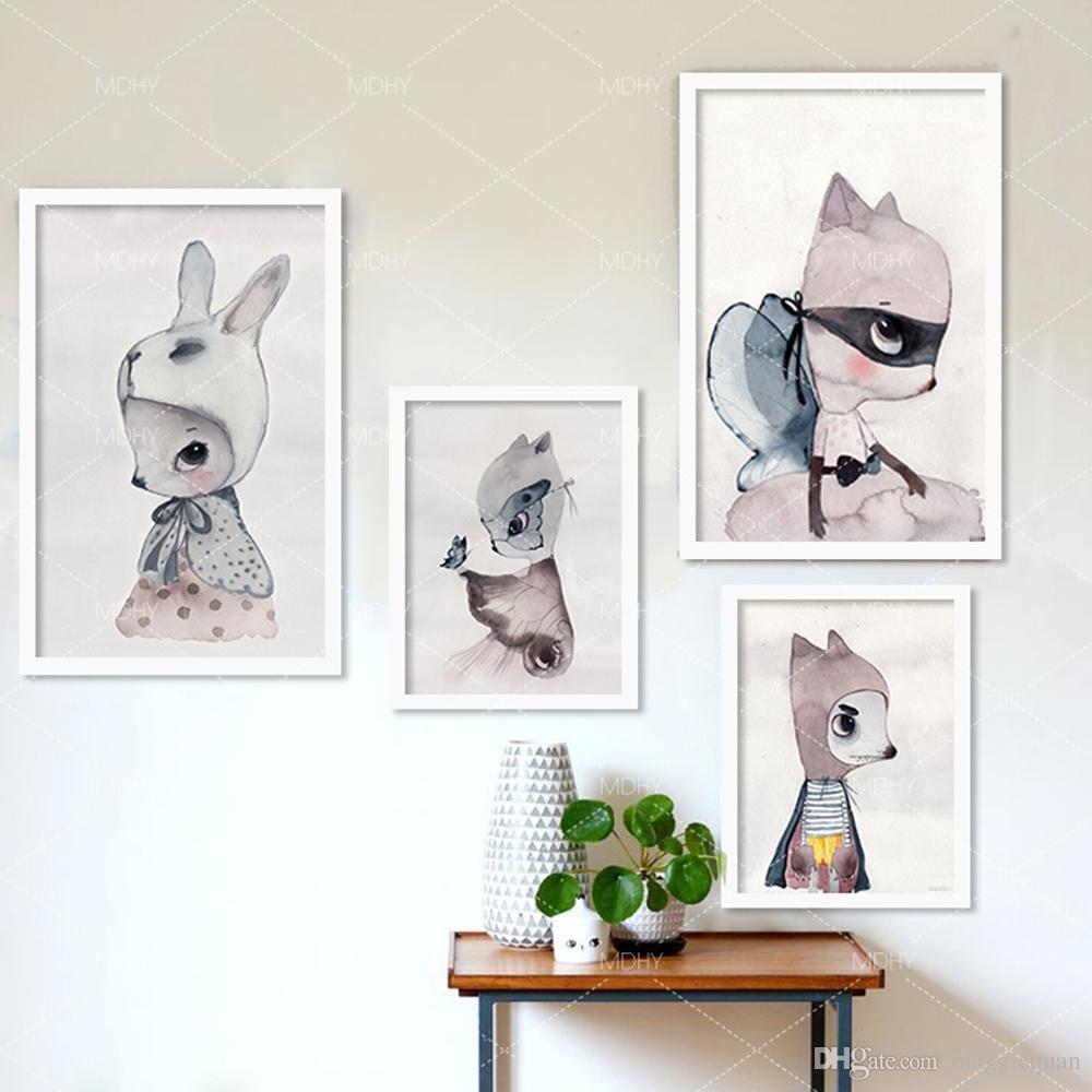 Großhandel Nordic Dekoration Mädchen Wand Kunstdrucke Leinwand Poster Und  Drucke Wandbilder Kinderzimmer Wandbild Mädchen Kinderzimmer Cuadros Poster  ...