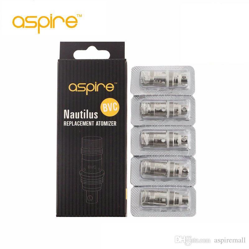 100% original Aspire BVC bobina cabeças para aspirar o fluxo de ar de controlo mini-Nautilus clearomizer bobina cabeça 1.6ohm substituição Nautilus