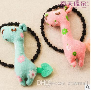 Ritto hot style hot popular cartoon children cloth art hair bands tied rope wholesale aprons cute hair rubber bands