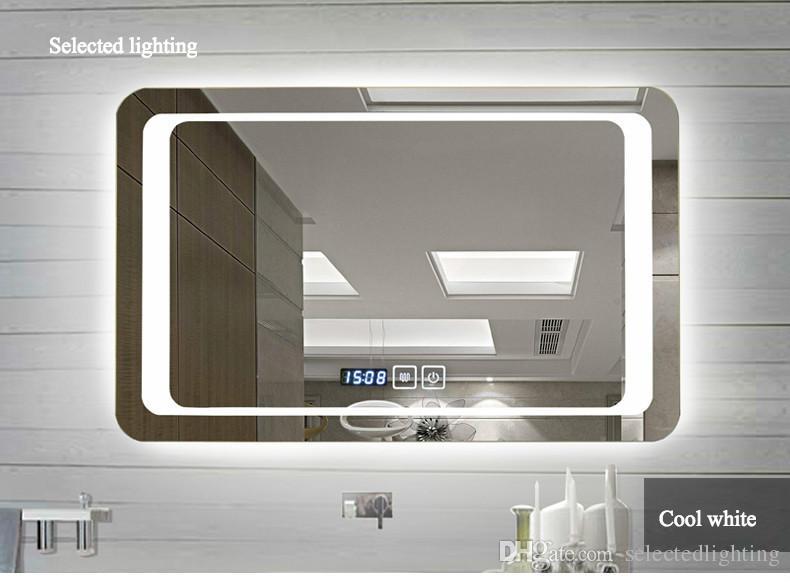 venta al por mayor espejos sin marco espejo de bao de pared inteligente de alta definicin desmontable luces de bao luces led espejos lmparas w x h