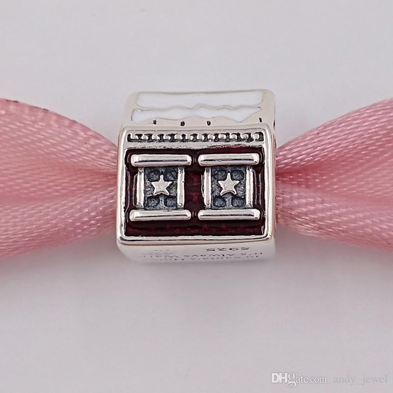 Рождество стерлингового серебра 925 стерлингового серебра Santa подходит для европейских ювелирных украшений в стиле Pandora. Ожерелье 792003ENMX Зимний костюм