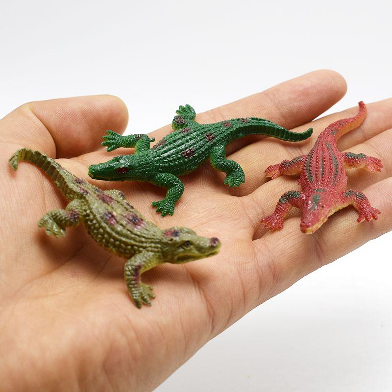600pcs/lot 7CM Super Mine alligator Lifelike Simulation Animals crocodile Action Figure Toy For Kids wholesale