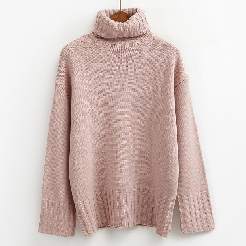 2019 Wholesale Autumn 2017 Pullover Women Sweaters And Pullovers Winter Turtleneck Korean Pink Cute Knitting Ugly Christmas Sweater Women From