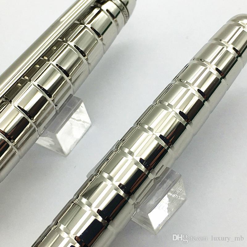 Alta qualidade M caneta Alemanha marca de metal verificador de prata Rollerball e caneta esferográfica frete grátis