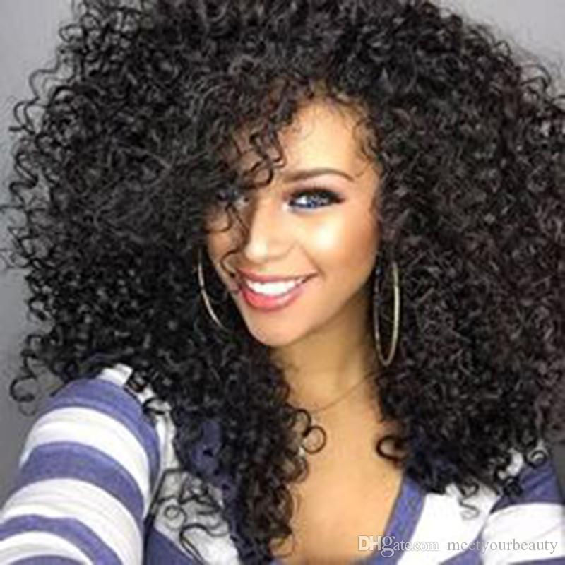 New Arriving cheap beauty Simulation Human hair wig Kinky Curly Wig Fashion for balck women in Large stock