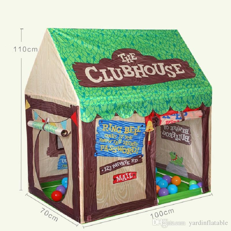 Hot Castle Kids Play Game Tent Fun Playhouse Outdoor Tent Children Lovely Club House D170