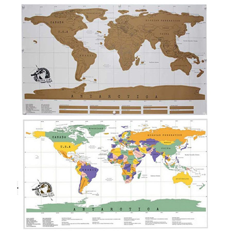 Travel scratch off map personalized world map poster traveler travel scratch off map personalized world map poster traveler vacation log national geographic world map wall gumiabroncs Gallery