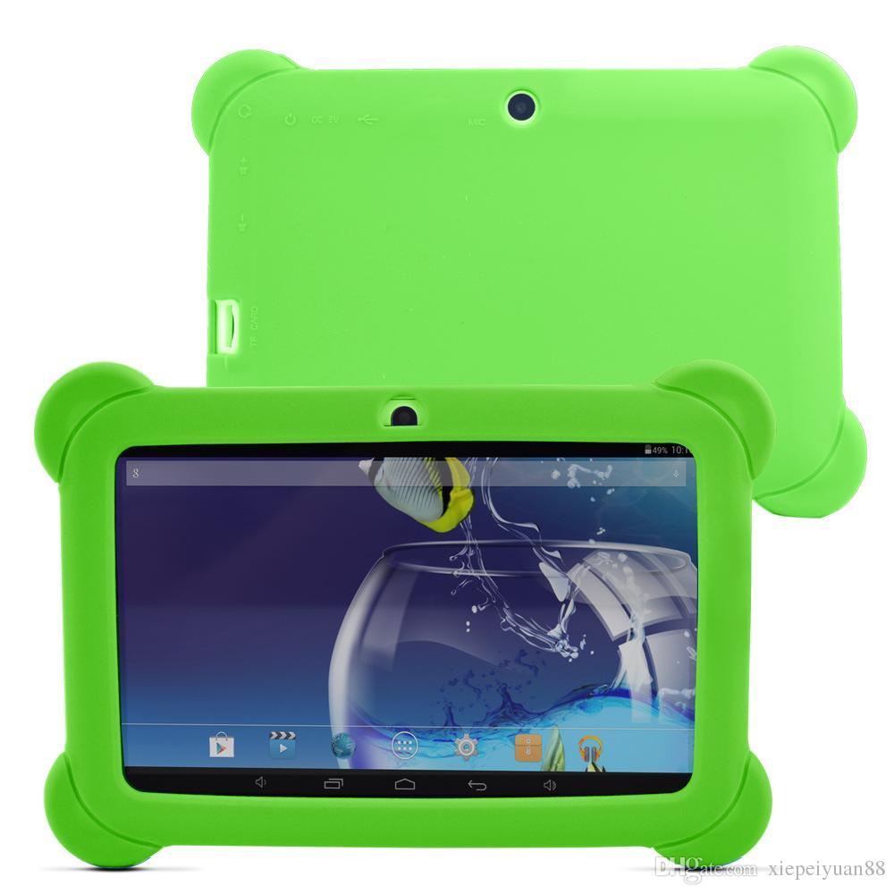 """100X дети ребенок Мягкий силиконовый резиновый гель чехол для 7 """" 7 дюймов Q88 Q8 A33 A23 Android Tablet pc MID 10 красочные"""
