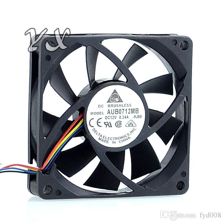 Nuevo y original AUB0712MB 7015 12V 0.24A 7cm 4-pin PWM CPU ventilador de refrigeración para Delta 70 * 70 * 15 mm