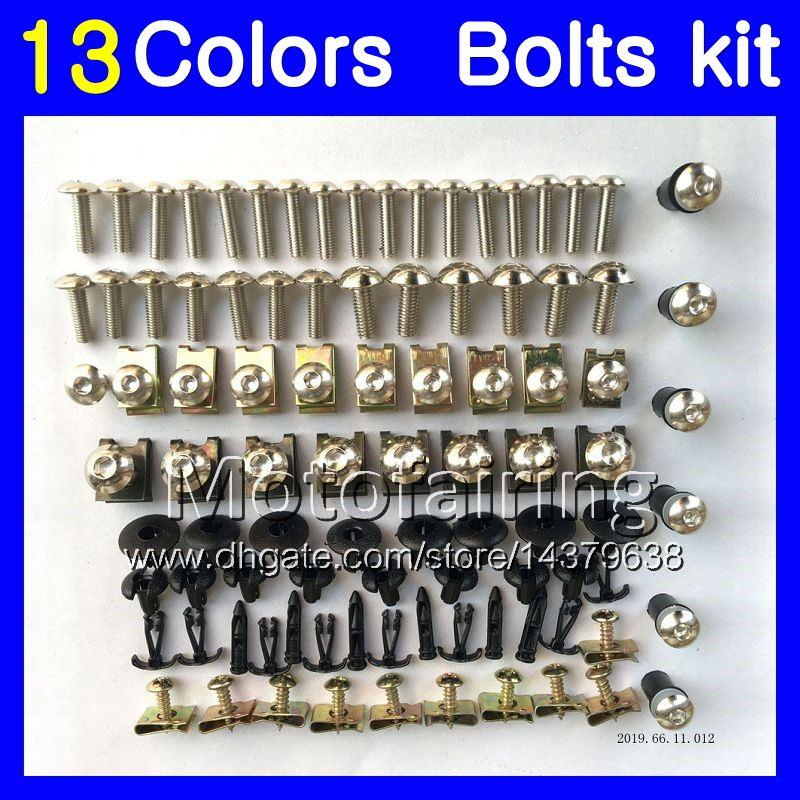 Kit de tornillos completos para KAWASAKI NINJA ZX6R 13 14 15 16 ZX-6R 6 R ZX 6R 2013 2014 2015 2016 Tornillos de tuerca kit de pernos de tuerca 13 colores