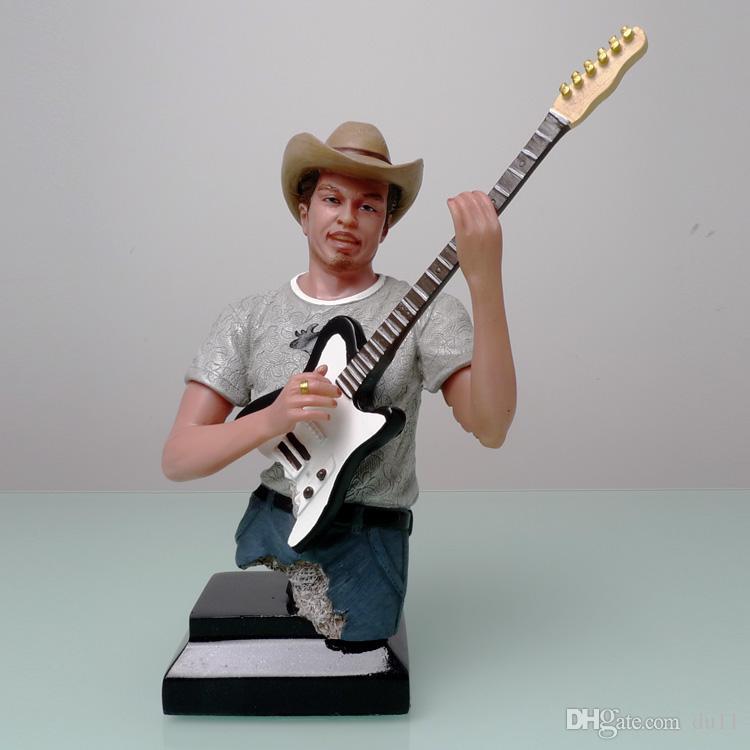 Trompette; 22.5 * 16 * 11.5CM USA mariage Western Cowboy musique sculpture artisanat importations vente showroom décoration envoyer à des amis de coupe
