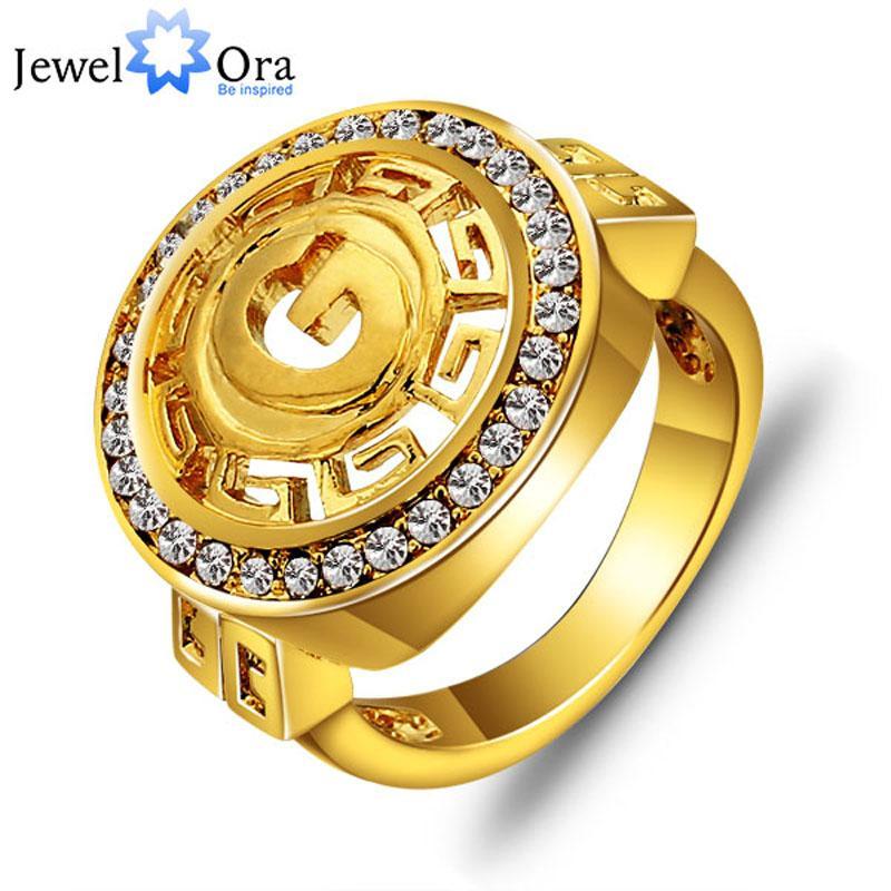 Anéis de jóias de ouro de jóias de homens para homens requintado anel de banhado a ouro dos homens (RI100778) 17401