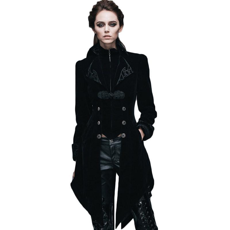 Steampunk Damen Frühjahr Jacke Herbst Gothic Damen Mantel Langarm Windbreaker Mujer British Patterns Damen Jacken