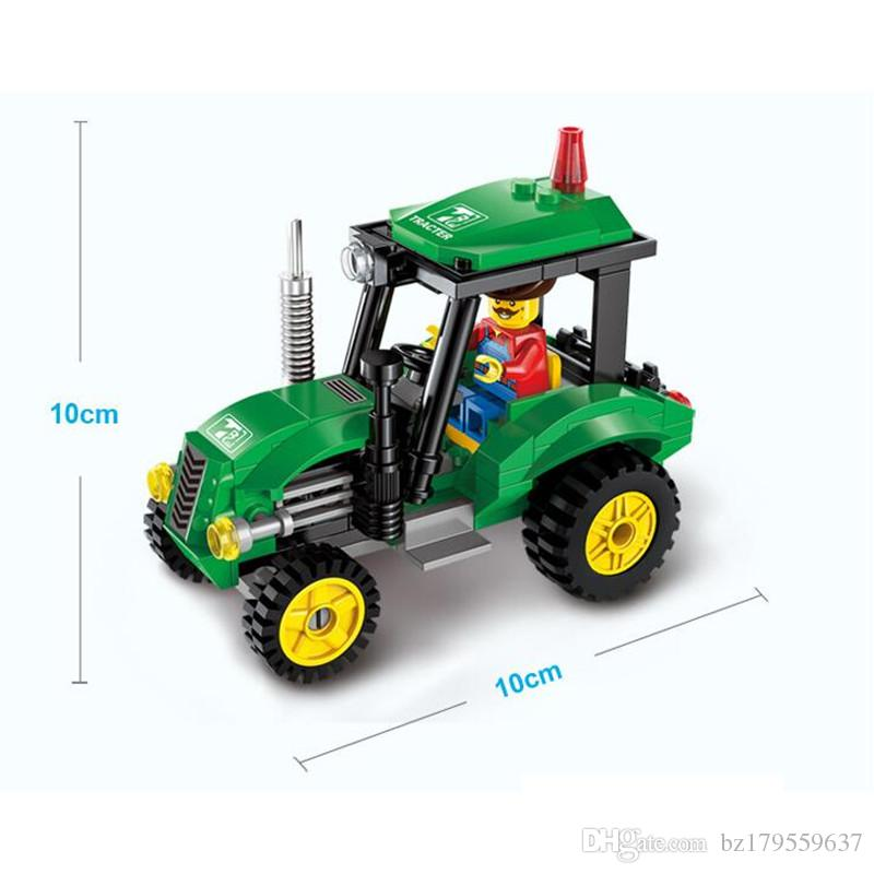 Super Cool !! 112pcs / set 포크 리프트 트럭 어셈블리 빌딩 블록 키트 어린이 교육 퍼즐 장난감 어린이 생일 선물