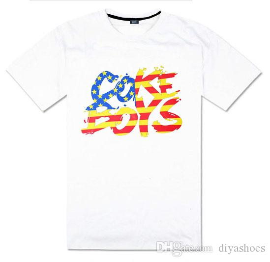 2018 estate cokeboys hip hop t-shirt manica corta da uomo e donna amore casual tshirt moda streetwear hip hop plus size xxxl all'ingrosso