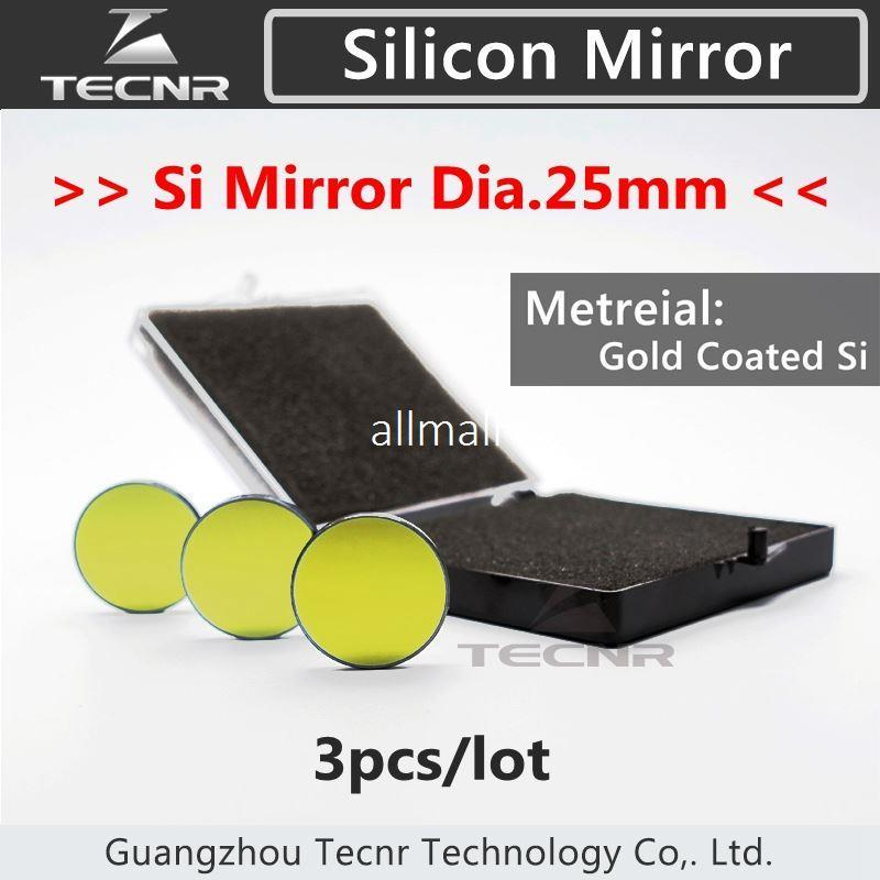 Freeshipping CO2 Laserspiegel Hohe Qualität Si Beschichtetes Gold Reflektierende Spiegel Reflektor CO2 Laserschneiden Gravur Dia 25mm pack von 3 stücke