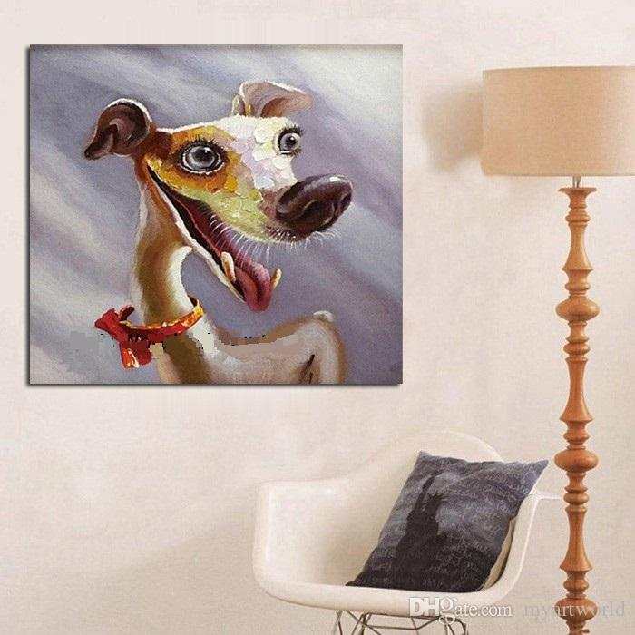 Framed Abstract Animal,Hand-painted Modern Venice Animals Art Oil Painting,Home Wall Decor On High Quality Canvas in Multi sizes C021