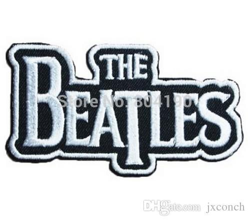 "3.1 ""THE BEATLES Banda de Música Punk Rock Bordado NOVA FERRO E COSTURAR NO Remendo Heavy Metal applique dropship"