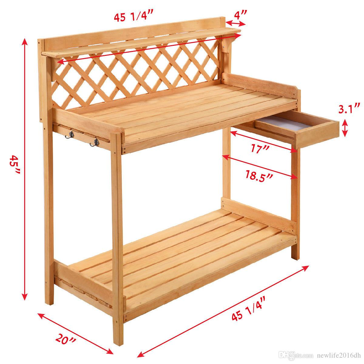 Stupendous 2019 Potting Bench Outdoor Garden Work Bench Station Planting Solid Wood Construction From Newlife2016Dh 59 03 Dhgate Com Andrewgaddart Wooden Chair Designs For Living Room Andrewgaddartcom