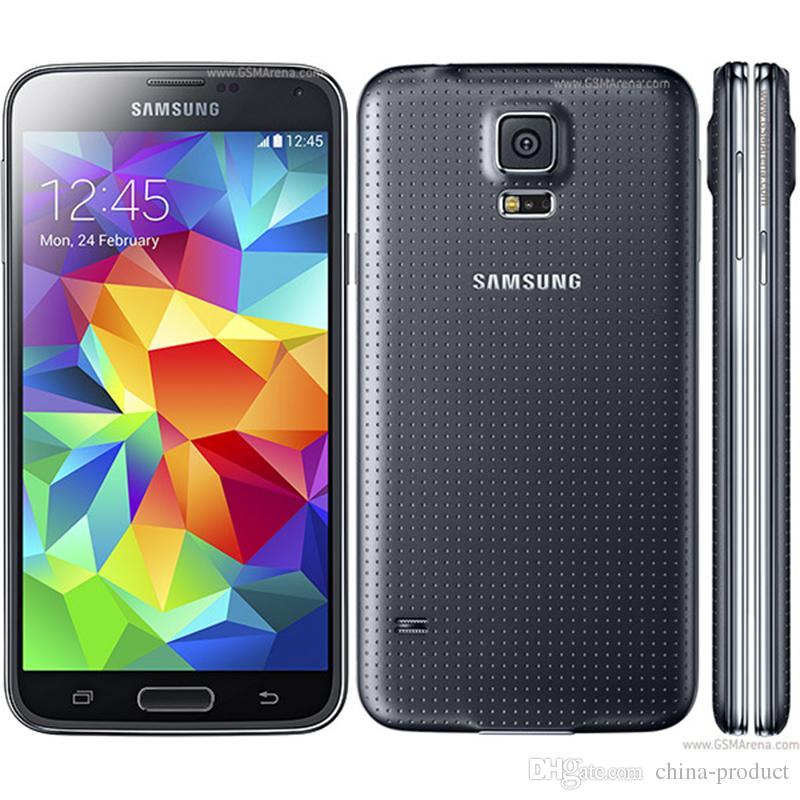 الأصلي سامسونج غالاكسي S5 G900A i9600 الهاتف SM-G900 خلية رباعية النواة الجيل الثالث 3G GPS WIFI 5.1  شاشة تعمل باللمس مقفلة الهاتف تجديد G900T G900F