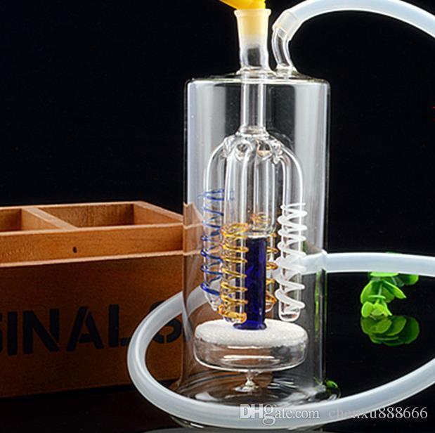 Çift tel filtre temizleyebilirsiniz cam nargile, göndermek pot aksesuarları, cam bong, cam nargile, sigara, renk tarzı rastgele teslimat
