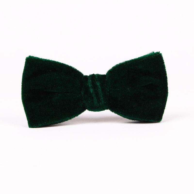 9719bf831b08 Free Shipping TIESET Clip-ons Blackish Green velvet Bow Tie For Gentleman  Party Wedding And Christmas Clip Type Dark Green