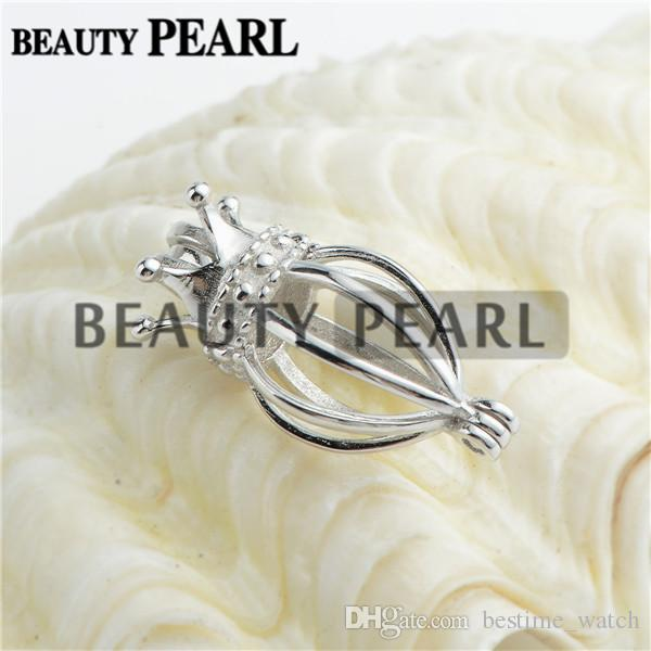 Bulk of 3 Pieces Locket Love Wish Pearl Gifts Fine Sterling 925 Silver Jewellery Cage Pendant Charm