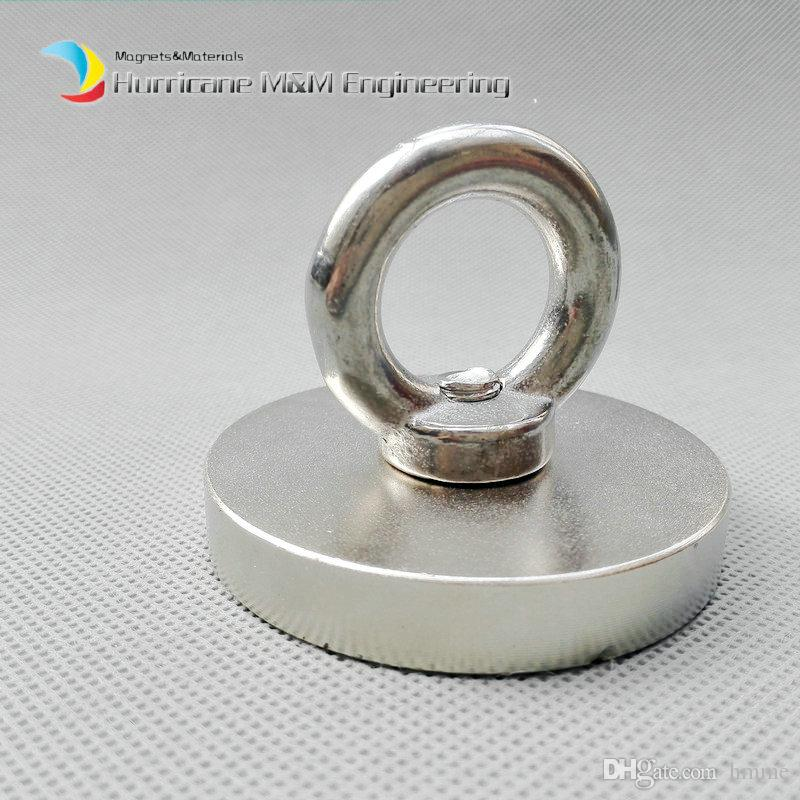 10 sets Countersunk Hole Magnet about Diameter 60x10mm Thick M8 Screw Countersunk Hole Neodymium Rare Earth Permanent Magnet