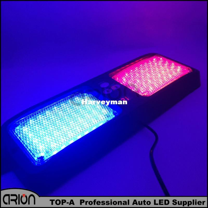 Car Emergency 86 Led strobe light / Visor led light / Flashing lamp Auto Blue red Warning Led lights Red/Blue Color