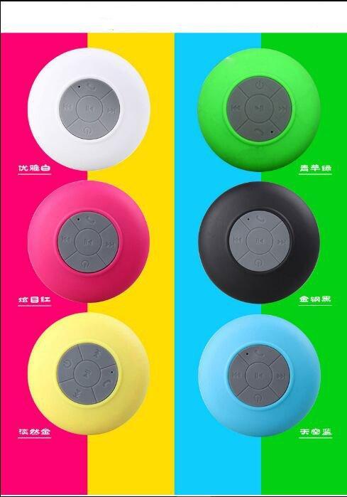 30pcs Mini Wireless Bluetooth Speaker Waterproof Handsfree Mic Suction Chuck Speaker Car Speaker Portable mini MP3 Super Bass Call Receive