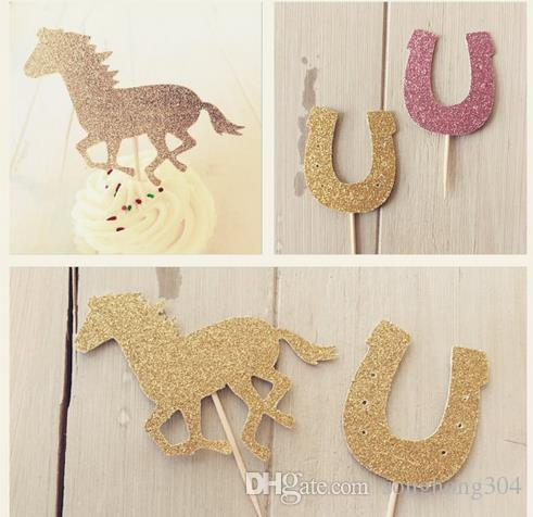 Awesome Personality Fashion Glitter Horse Equestrian Cupcake Toppers Pony Personalised Birthday Cards Sponlily Jamesorg