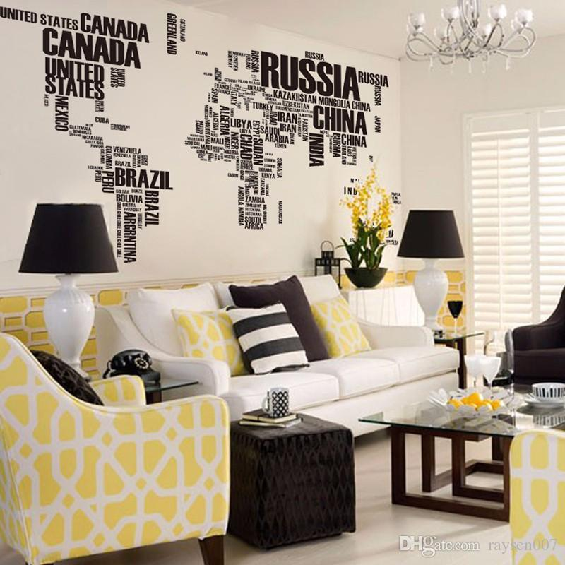 Big world map wall sticker decals removable letters world map wall big world map wall sticker decals removable letters world map wall sticker decals map of world gumiabroncs Gallery