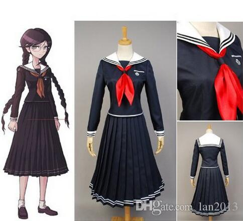 Ücretsiz Kargo Yeni Danganronpa Dangan-Ronpa Toko Fukawa Cosplay Anime Takım Kostüm Üniforma