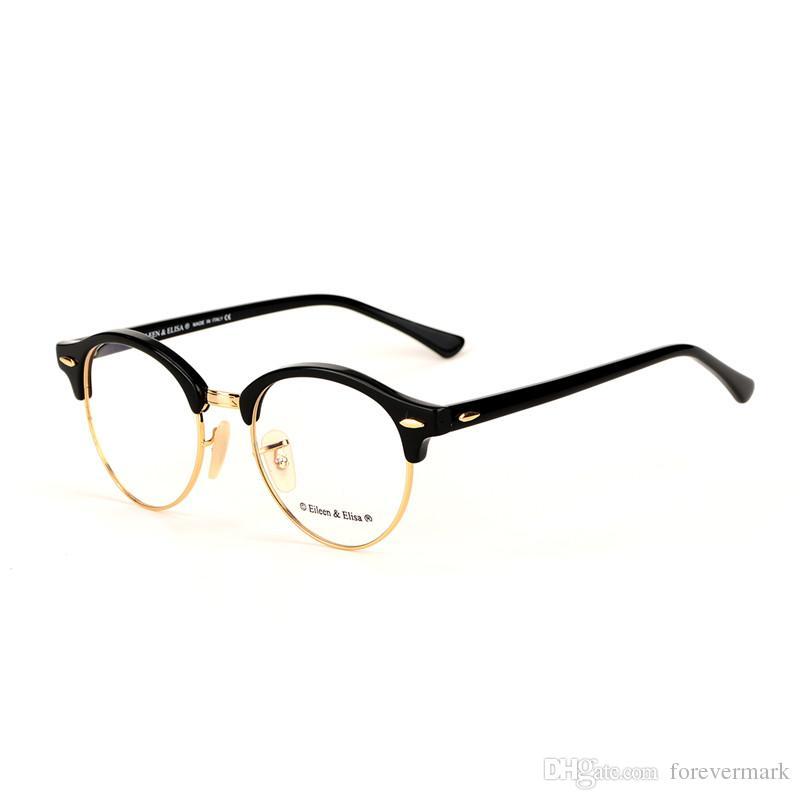 2018 Round Half Frame Glasses Frames Retro Optical Glasses Frame Men ...
