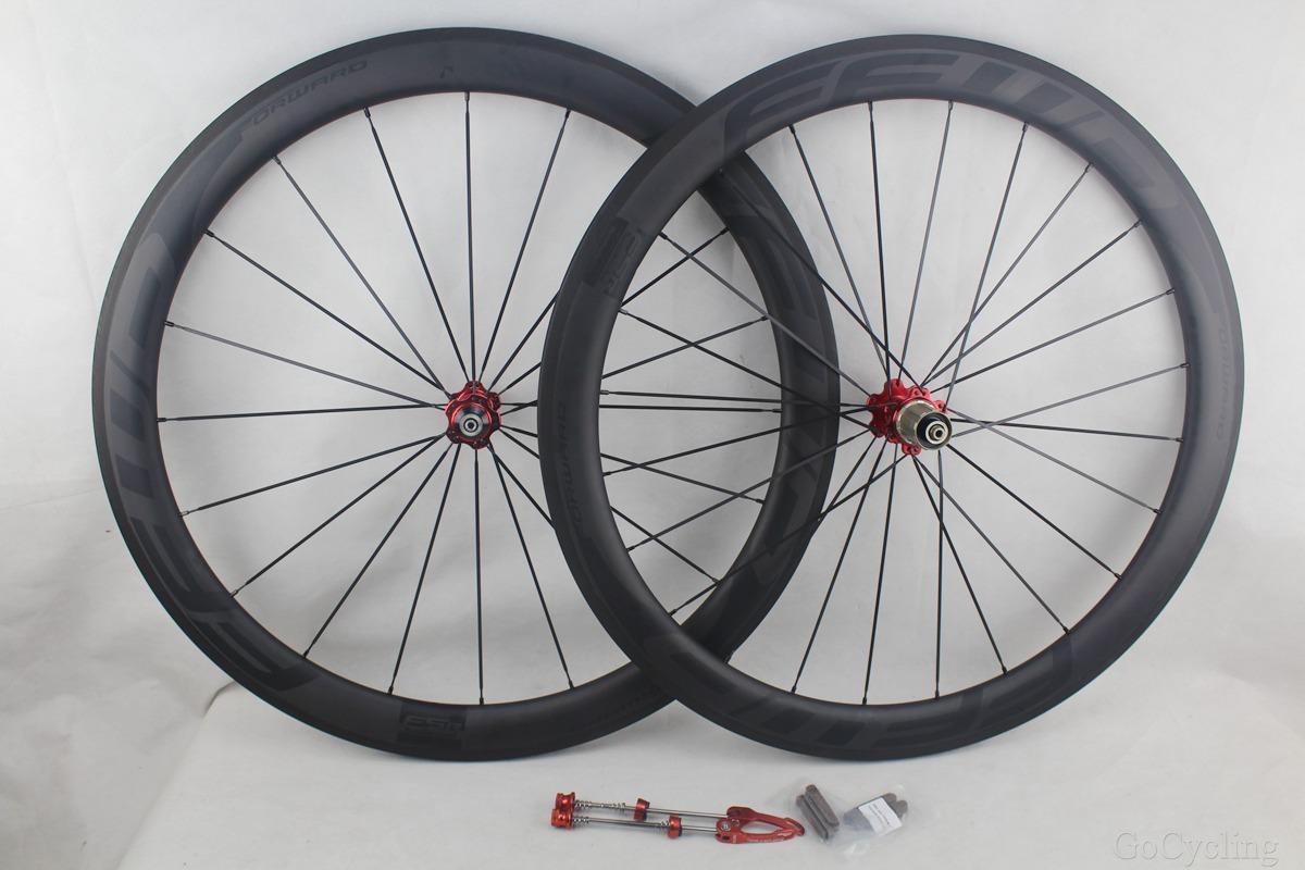 Black decals FFWD fast forward F5R full carbon bicycle wheels 50mm basalt brake surface clincher tubular road bike wheelset UD matt