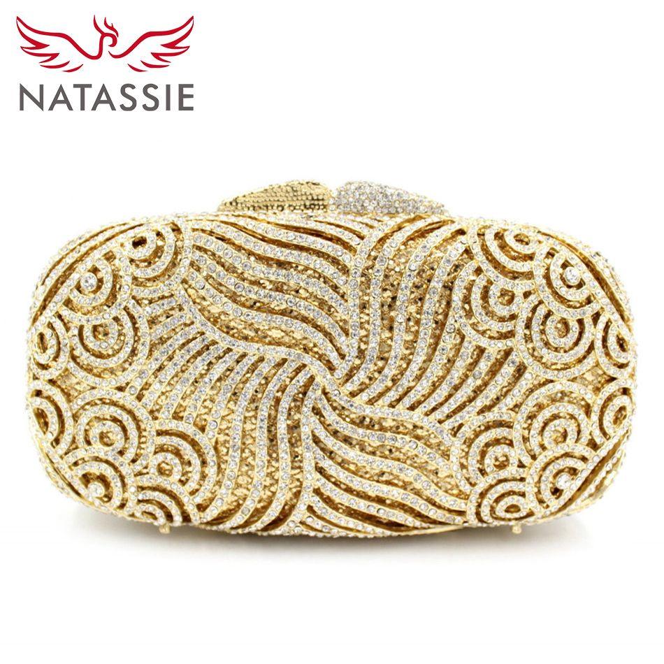 All'ingrosso NATASSIE cristallo frizioni Lady Dinner Party Portafogli da donna frizione di cerimonia nuziale Borse L2034